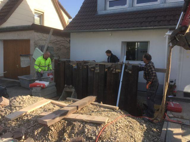 Kellertrockenlegung und Aussenanlagenarbeiten in Rottweil